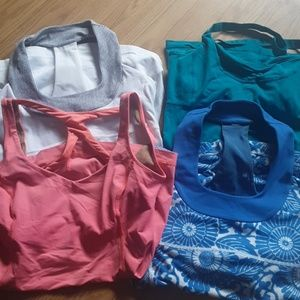 Lululemon lot of 4 tank size 6 shelf bras